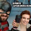 3D Printed Captain America Helmet