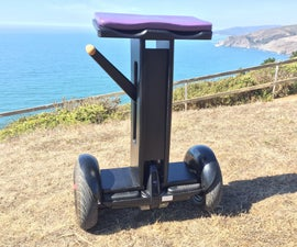 "Seated Segway, or ""eB2""  (electric Biped Version 2)"
