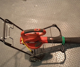 Leaf Blower Rolling Cart