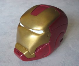 Hand-carved Iron Man head