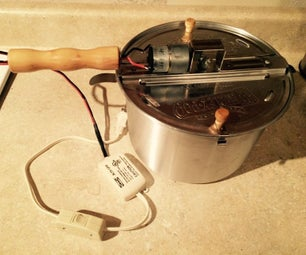 Motorized Coffee Roaster From Popcorn Maker