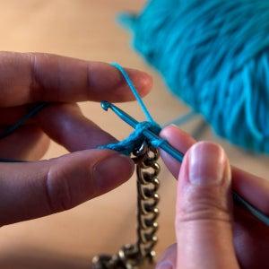 Second Row: Single Crochet