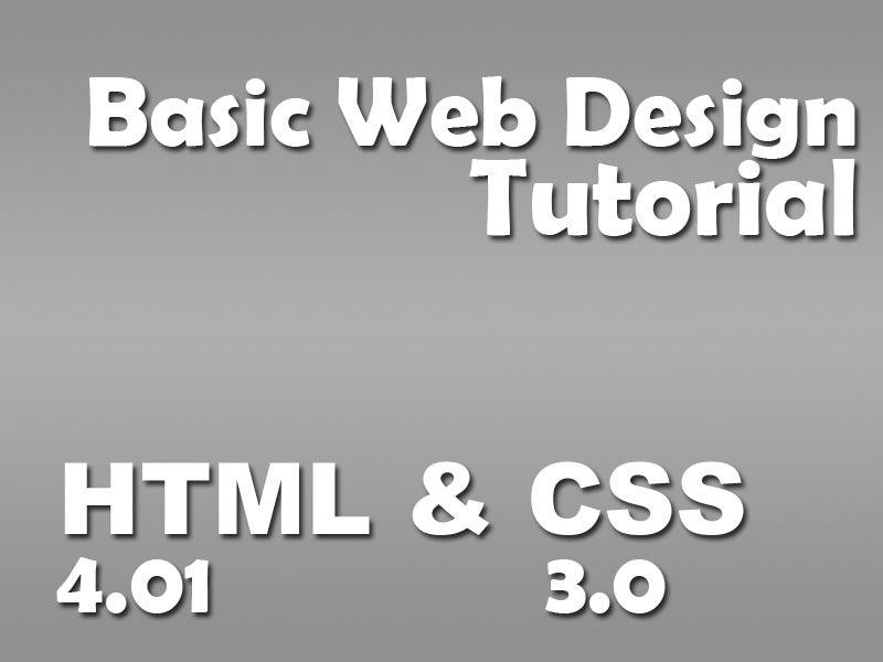 Web Designing Basics Html And Css 27 Steps With Pictures Instructables