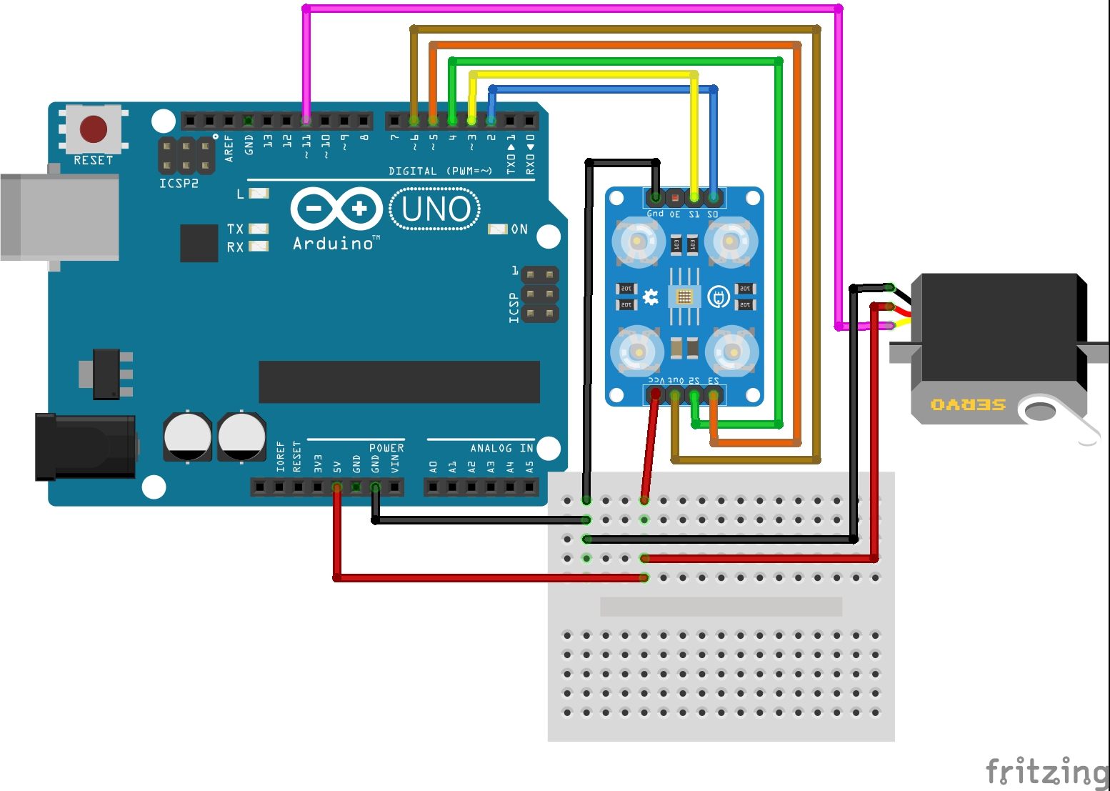 Picture of Servo Motor Interfacing With Arduino UNO: