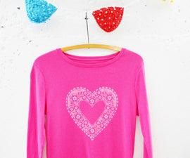 Doily Heart T-shirt DIY