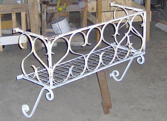Picture of Wrought Iron Window Box Made From Old A/C Window Guard