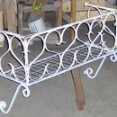 Wrought Iron Window Box made from old A/C window guard