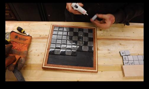 Step 6: Glue Tiles