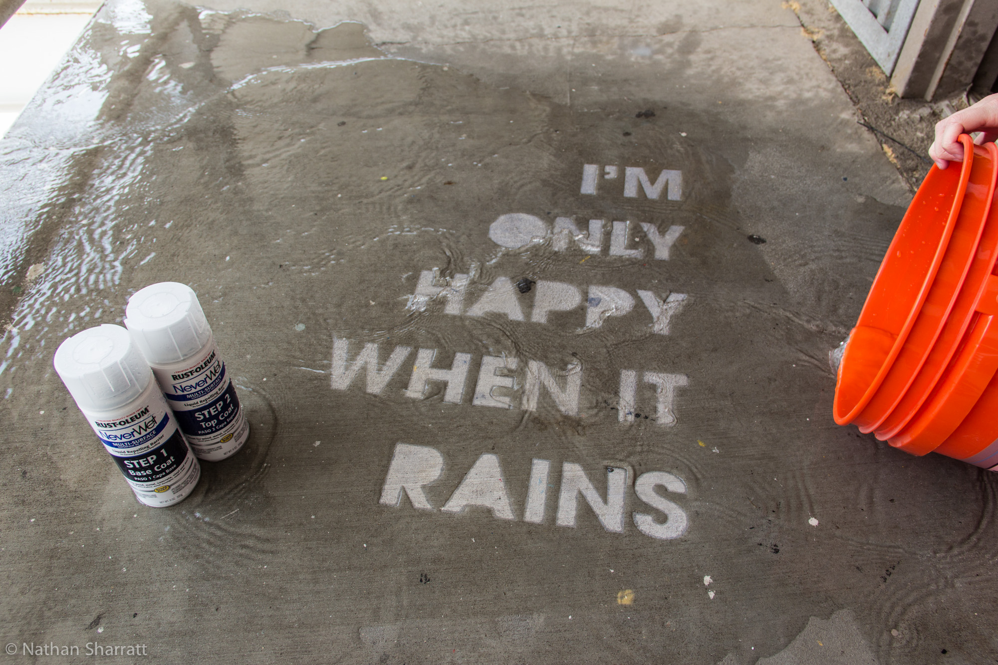 Picture of How to Make Rain Drawings With NeverWet Superhydrophobic Coating