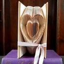 Valentine's Day - Folded Book Art - Heart Inside a Heart