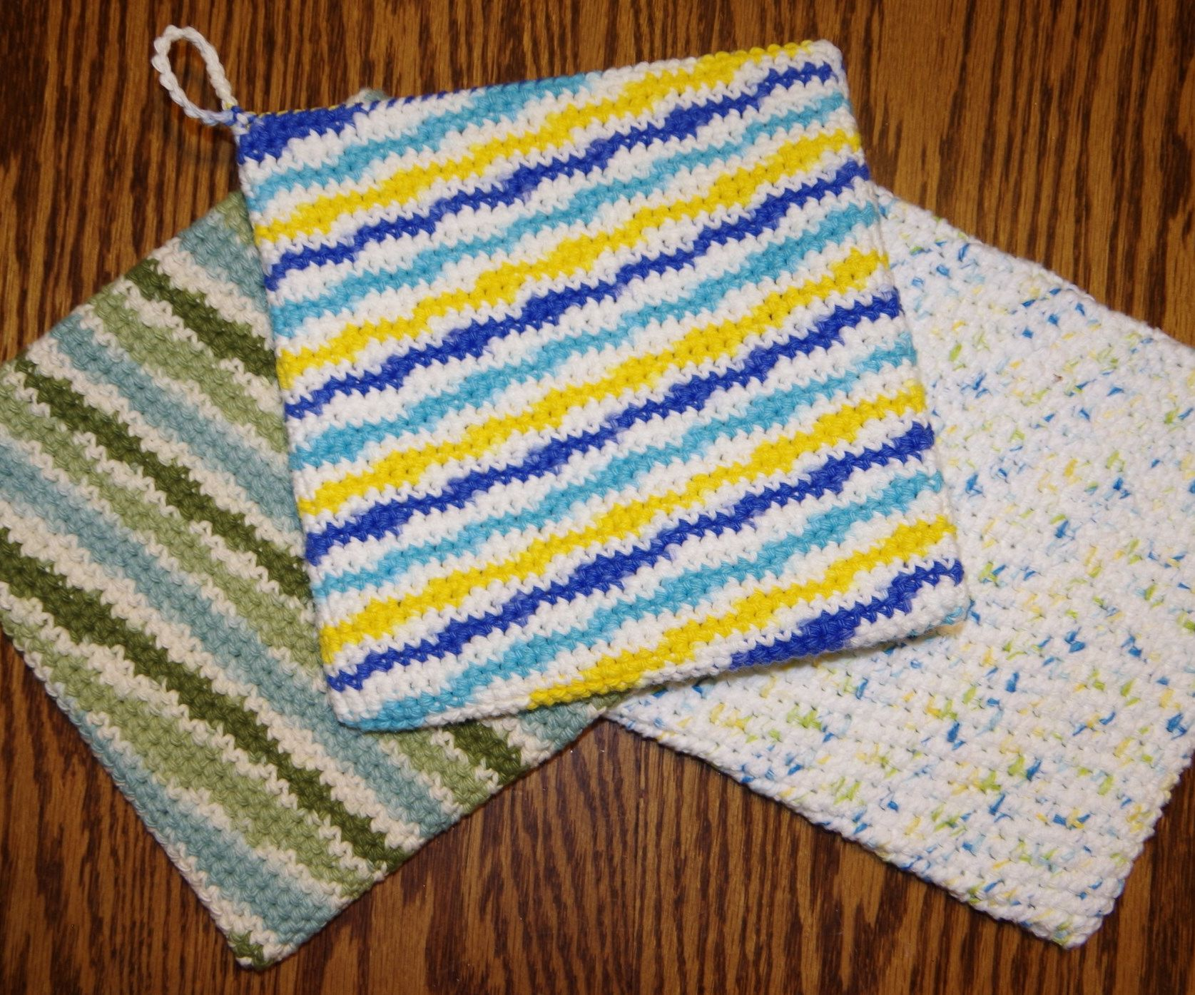 Double Thick Single Crochet Potholder : 15 Steps (with Pictures ...