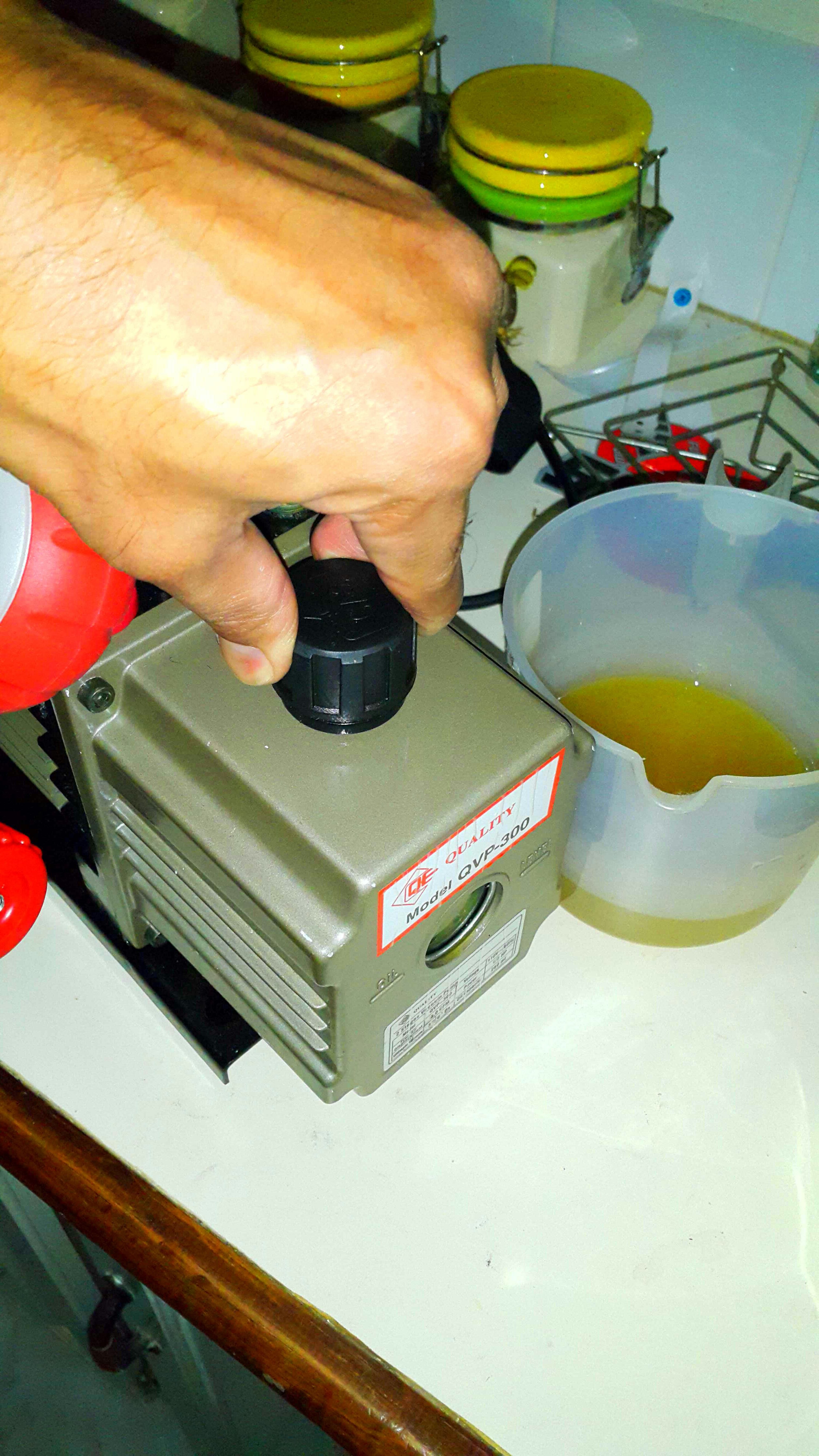 Picture of Adding Fresh Oil.