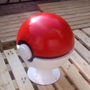How to Make a Giant Pokeball Container