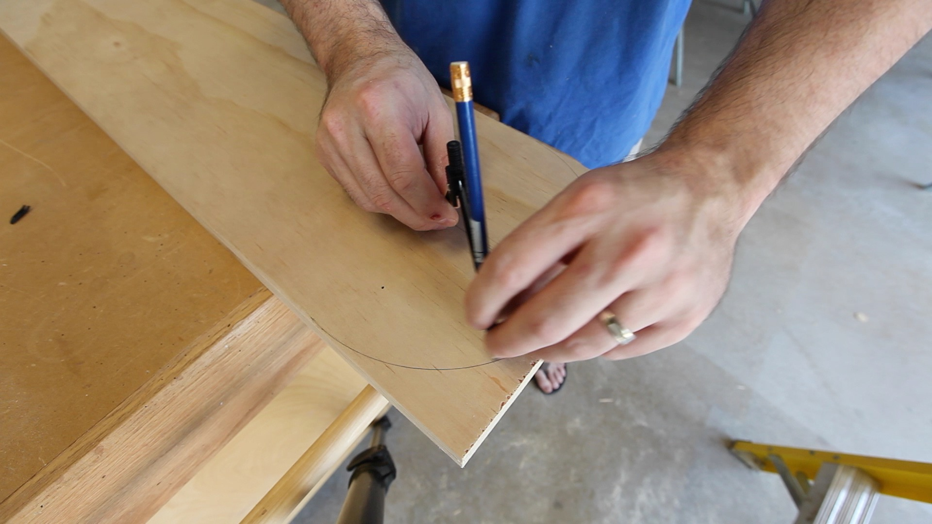 Picture of Marking and Drilling the Sides