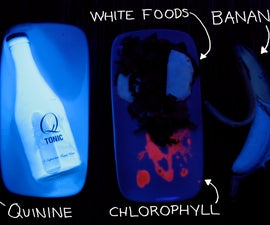 Glowing Foods! Cooking colorfully in ultraviolet light.