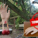Halloween Severed Hand Bird Feeder