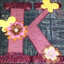 Yarn Wrapped Letter K