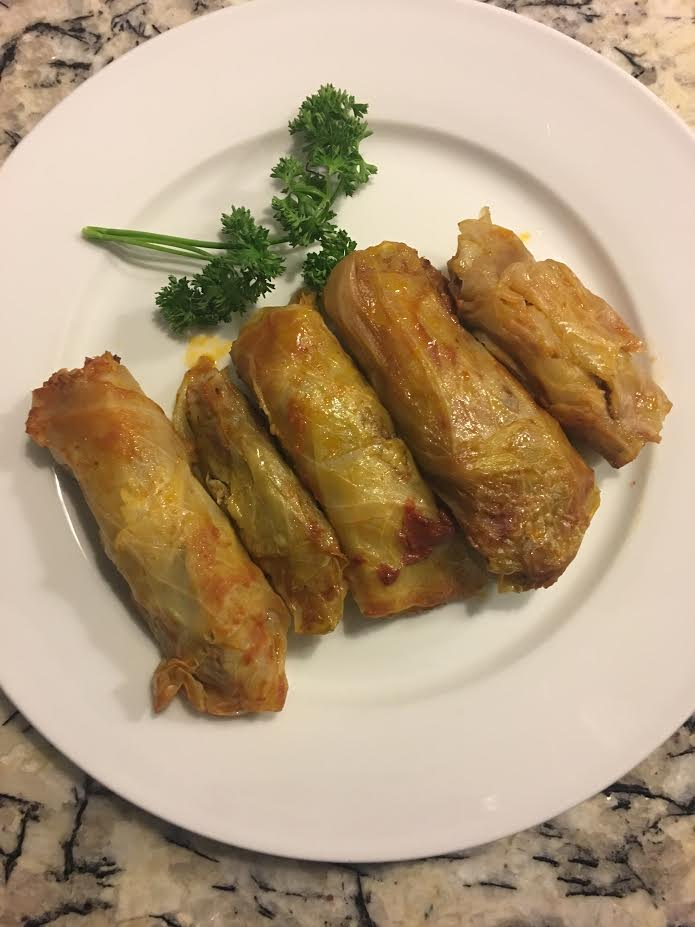 Picture of Stuffed Cabbage Rolls With Meat and Rice
