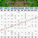 Full Spectrum Taco Seasoning Powder Recipe Designer Table
