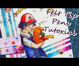 How to Use Felt Tip Pens ~ Drawing Tutorial