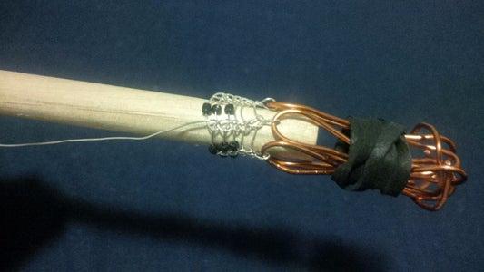 Beaded Viking Knit Bracelet Model 1