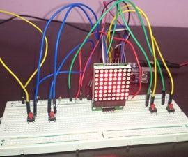 Ping Pong in Arduino, With MAX7219