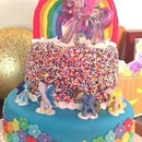 Two-Tier Rainbow My Little Pony Cake