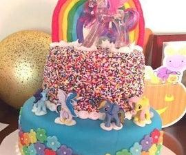 Two-Tier Rainbow My Little Pony Cake