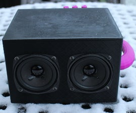 """8cm 3.3"""" Speaker Box With Built in Bluetooth Amplifier"""