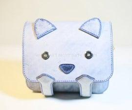 Cat Leather Bag