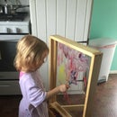Portable Child's Paint-on Window/Easel
