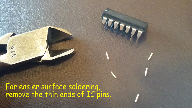 Picture of Remove the Thin Ends of IC Pins