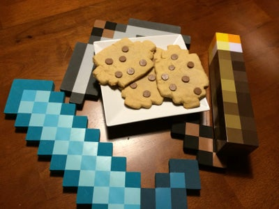 Minecraft Chocolate Chip Cookies IRL
