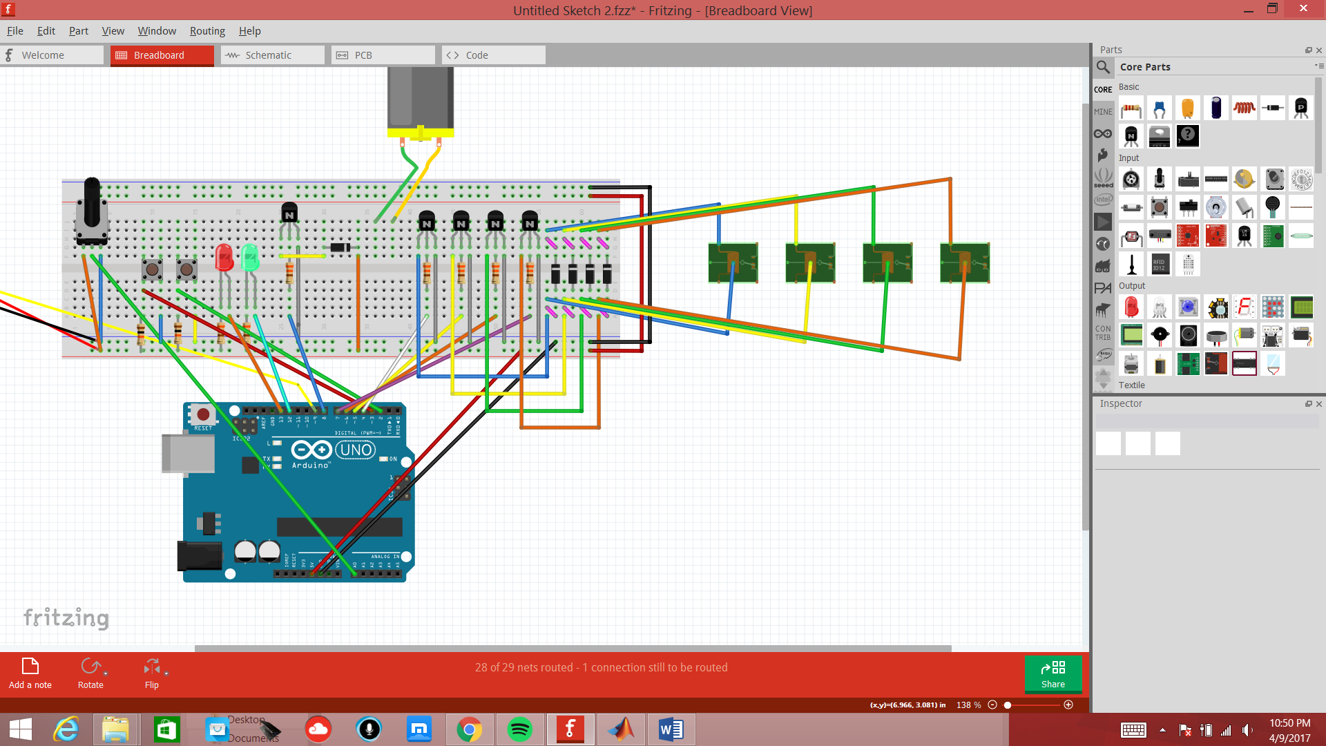 Picture of Constructing a H-Bridge to Fit Inside the Motor Circuit
