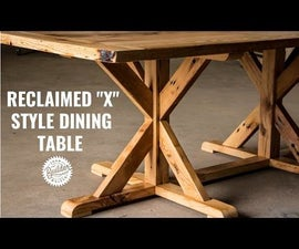 Reclaimed X Style Trestle Table | How to