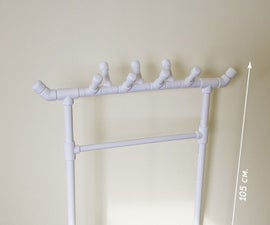 PVC rack for kids clothes