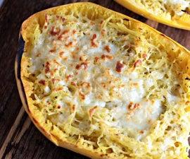 Italian Herbs and Cheese Spaghetti Squash