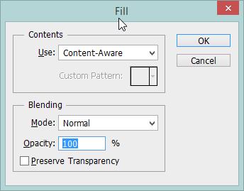Content-Aware Fill