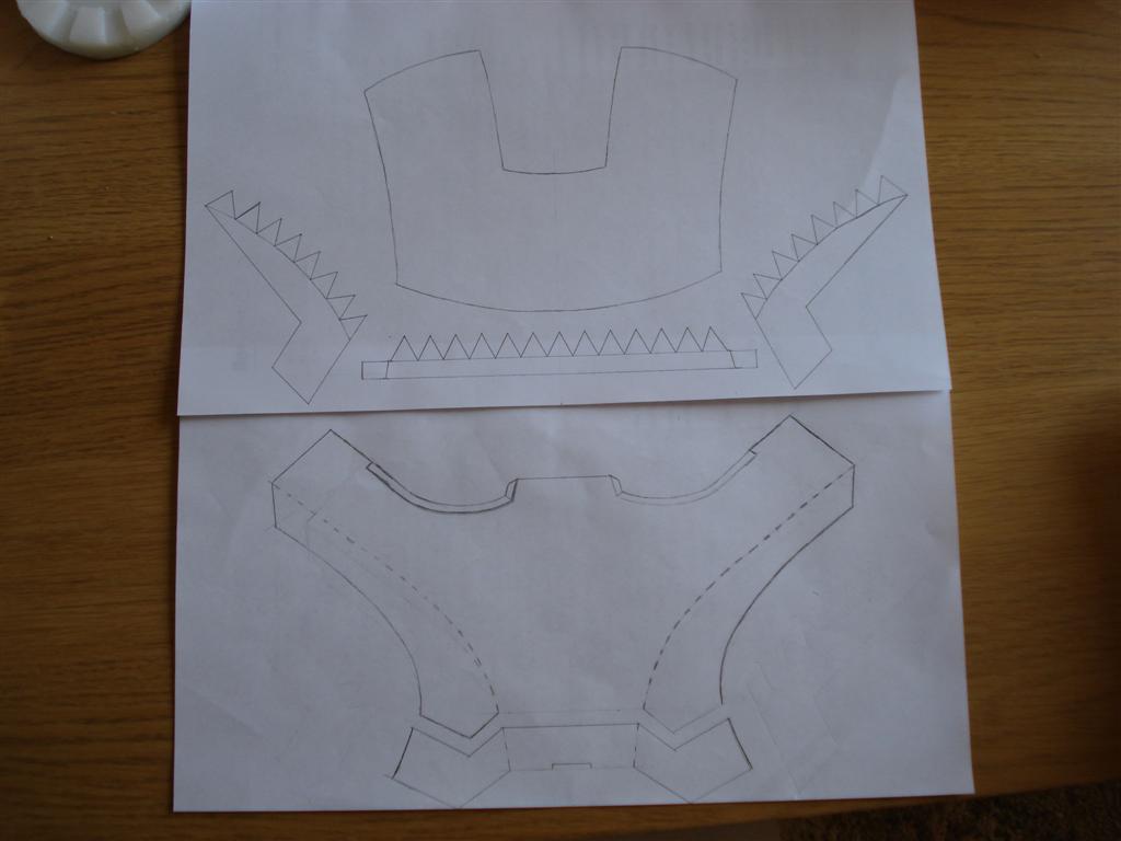 Как сделать железного человека маску из картона