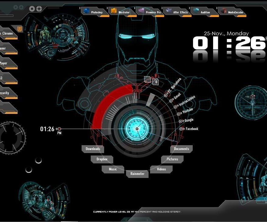 How to customize your desktop to iron man jarvis interface 3 steps - Iron man jarvis background ...