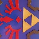 3D Relief Shield Wall Art (Hylian Shield, Ocarina of Time)