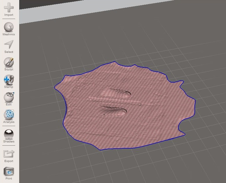 Picture of Importing Model Into Meshmixer