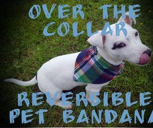 Slip Over the Collar Reversible Pet Bandana