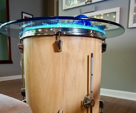 Floor Tom End Table With Smart Light