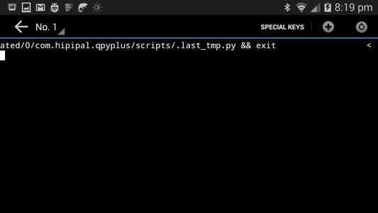 Run a Sample Script in QPython
