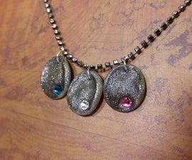 DIY Fingerprint Birthstone Necklace