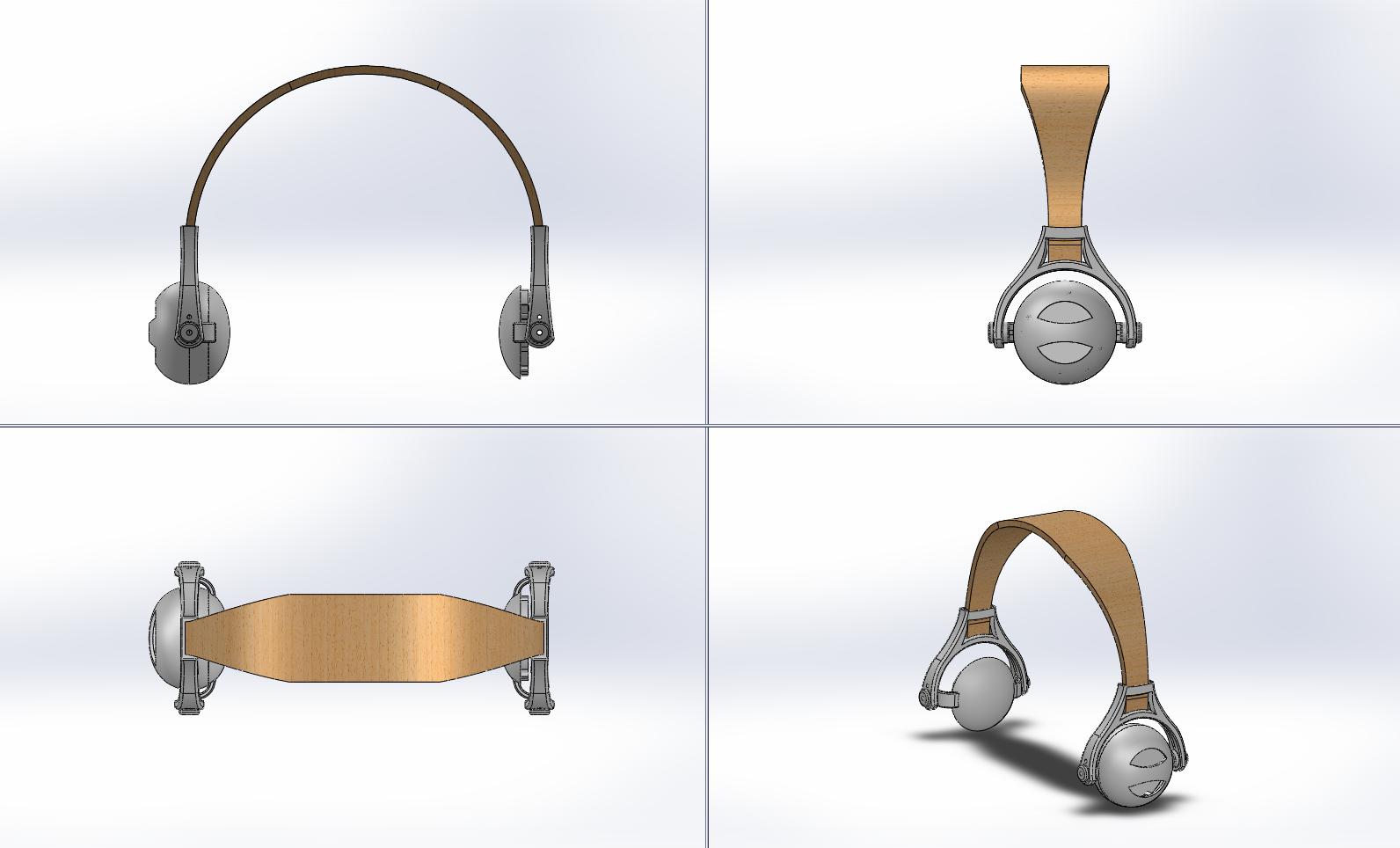 Picture of Outie Headphones: Parametric Bent Wood Lamination