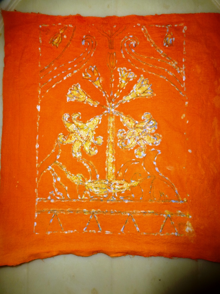 Picture of Second Dyeing in Orange Dye-bath