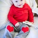 DIY HEART KNEE PATCH BABY PANTS