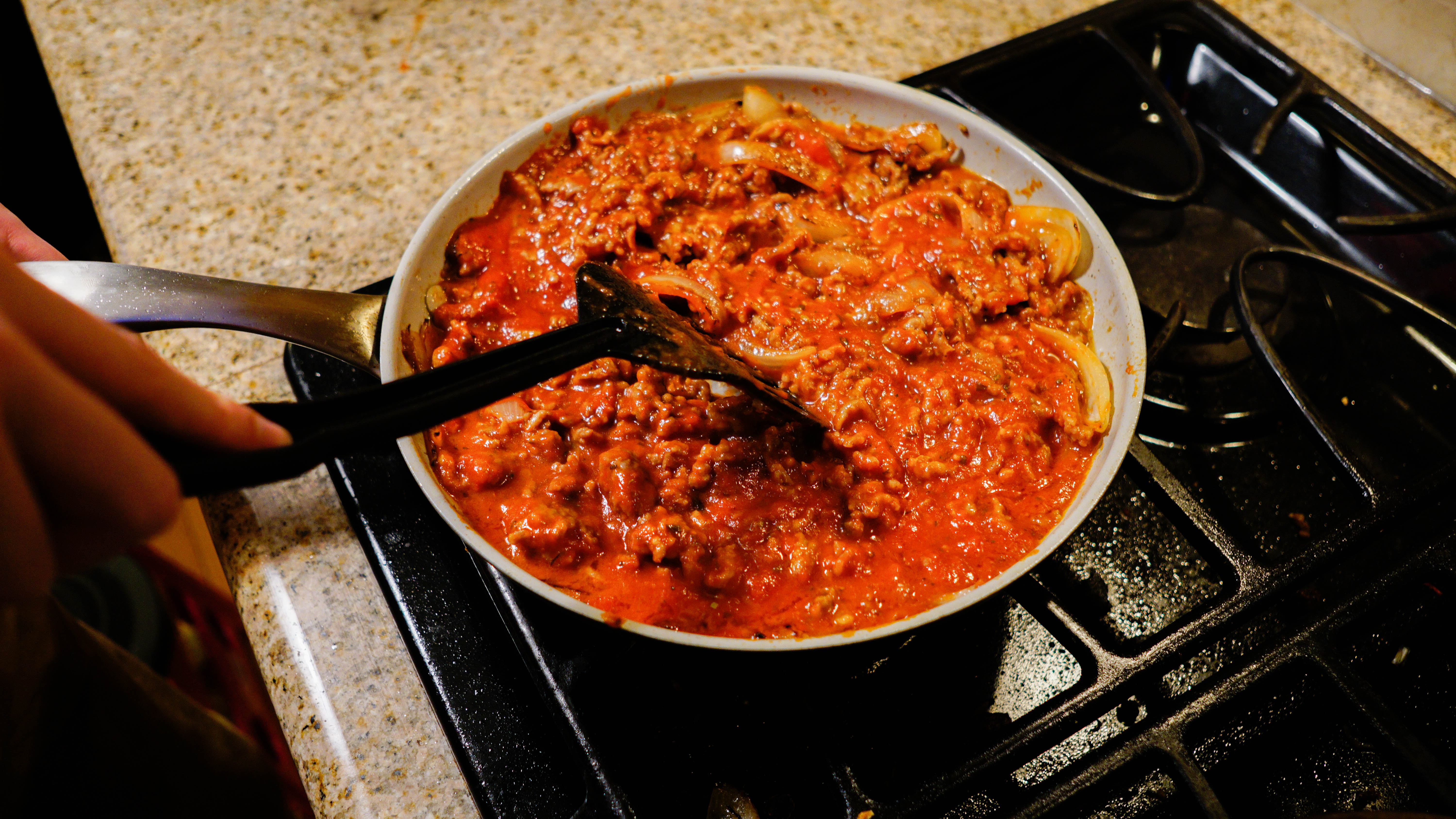 Picture of Tomato Sauce and Sausage Mixture